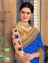photo of Art Silk And Net Blue Function Wear Saree With Embroidery Designs