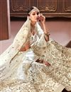 photo of Art Silk Off White Designer 3 Piece Lehenga Choli With Embroidery Designs