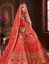 photo of Red Color Wedding Wear 3 Piece Lehenga In Art Silk Fabric With Embroidery Work