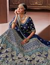 photo of Blue Color Art Silk Fabric Wedding Wear 3 Piece Lehenga Choli With Embroidery Work