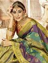 photo of Party Wear Fancy Art Silk Designer Weaving Work Saree In Multi Color