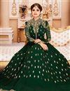 photo of Eid Special Shamita Shetty Long Anarkali Dress In Dark Green Georgette