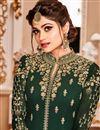 picture of Eid Special Shamita Shetty Long Anarkali Dress In Dark Green Georgette