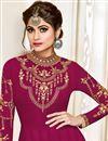 picture of Eid Special Shamita Shetty Burgundy Color Georgette Fancy Long Anarkali Salwar Suit