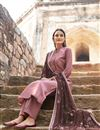 photo of Pink Embroidered Trendy Festive Wear Straight Cut Suit In Fancy Fabric
