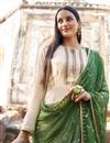 photo of Beige Trendy Festive Wear Embroidered Fancy Fabric Straight Cut Suit