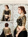 photo of Function Wear Black Color Satin And Georgette Designer Saree With Fancy Blouse