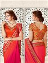 photo of Designer Orange And Pink Color Silk Fancy Saree With Embroidered Blouse