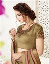 photo of Function Wear Mehendi Green And Maroon Color Georgette Designer Saree With Fancy Blouse