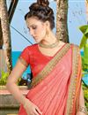 photo of Beautifully Embroidered Festive Wear Designer Silk And Jacquard Saree In Orange Color