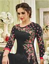 photo of Georgette Black Floor Length Anarkali Suit With Embroidery Work