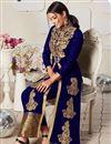 photo of Party Wear Anarkali Salwar Suit In Blue Color Georgette Fabric