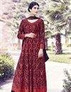 image of Black Color Embroidered Georgette Fabric Anarkali Salwar Kameez