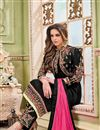 photo of Georgette Embroidered Churidar Salwar Kameez With Koti