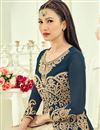 photo of Designer Beige Color Net Fabric Party Wear Sharara Top Lehenga With Attractive Work Featuring Gauhar Khan