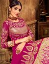 photo of Eid Special Occasion Wear Georgette Embroidered Anarkali Salwar Kameez In Dark Pink Color