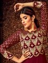 photo of Eid Special Maroon Color Georgette Sangeet Wear Anarkali Suit With Embroidery Work