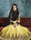 picture of Yellow Designer Embroidered Georgette Anarkali