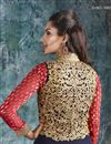 photo of Navy Blue Georgette-Jacquard Designer Anarkali