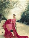 picture of Festive Special Pink Function Wear Georgette Designer Embroidered Sharara Suit