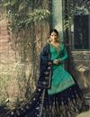 picture of Function Wear Georgette Embroidered Designer Sharara Suit In Cyan