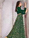 photo of Embroidery Work On Green Designer Salwar Suit In Banglori Silk Fabric