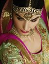 photo of Wedding Special Designer Wedding Function Wear Green Color Silk Fabric Fancy Embroidered Lehenga