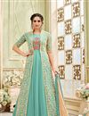 image of Floor Length Net Embellished Anarkali Salwar Suit