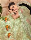 photo of Beige Color Lehenga With Satin Fabric Embroidery Designs And Enigmatic Blouse