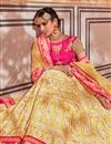 photo of Eid Special Net Yellow Wedding Wear 3 Piece Lehenga Choli With Embroidery Work