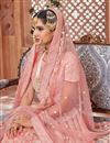 photo of Pink Designer Bridal Lehenga With Embroidery Work On Net Fabric