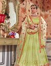 image of Embroidery Work On Net Designer Lehenga In Sea Green With Blouse