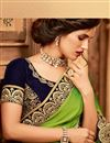 photo of Green Color Designer Ethnic Wear Art Silk Saree With Border Work