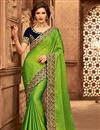 image of Green Color Designer Ethnic Wear Art Silk Saree With Border Work