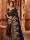 image of Designer Border Work Function Wear Black Color Art Silk Saree