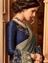 photo of Ethnic Wear Art Silk Border Work Designer Saree In Grey Color