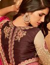 photo of Pink And Beige Color Designer Ethnic Wear Art Silk Saree With Border Work