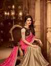 picture of Pink And Beige Color Designer Ethnic Wear Art Silk Saree With Border Work