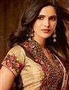picture of Designer Border Work Function Wear Rani Color Art Silk Saree