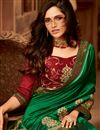 photo of Eid Special Ethnic Wear Green Color Art Silk Designer Border Work Saree