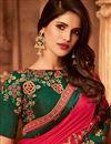picture of Festive Wear Pink Color Art Silk Designer Border Work Saree