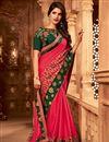 image of Festive Wear Pink Color Art Silk Designer Border Work Saree