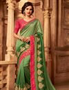 image of Designer Green Color Art Silk Occasion Wear Border Work Saree