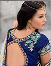 photo of White-Sky Blue Color Embroidered Designer Georgette Saree with Silk Blouse