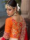 picture of Beige Color Banarasi Silk Wedding Wear Embroidered Lehenga Choli