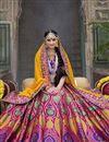 picture of Pink Color Bridal Wear Embroidered Designer Lehenga Choli In Banarasi Silk Fabric