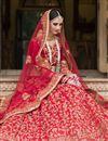 photo of Banglori Silk Fabric Wedding Wear Embroidered Lehenga Choli In Red Color