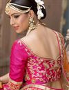 picture of Pink Color Banglori Silk Bridal Wear Embroidered Lehenga Choli