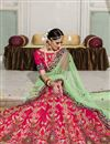 photo of Embroidered Pink Color Bridal Wear Banglori Silk Lehenga Choli