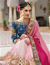 photo of Bridal Wear Fancy Silk Fabric Embroidered Designer Saree In Pink Color
